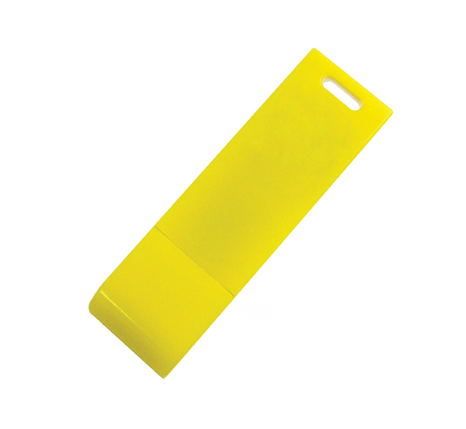 Glossy yellow branded memory stick