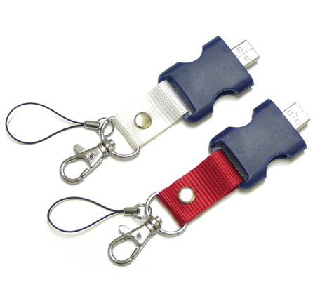 Short lanyard memory sticks