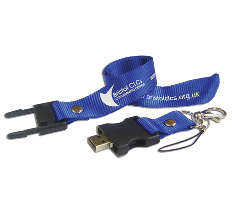 Bristol City Learning Centres lanyard flash drive
