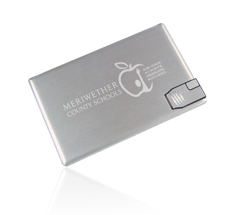 Meriwether promotional metal card usb drive