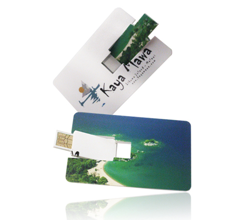 Personalised wallet card memory stick