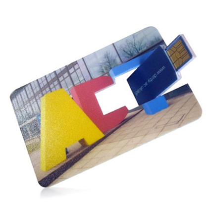 Branded usb wallet card drive