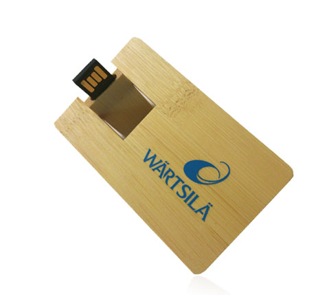 Wooden card memory stick