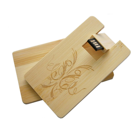 Branded wooden card usb stick
