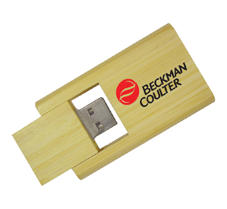 Bamboo twist usb flash drive