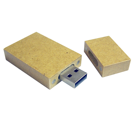 Recycled paper usb stick