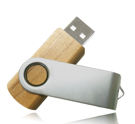 Promotional wooden usb stick