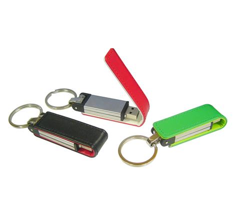 Promotional leather memory sticks