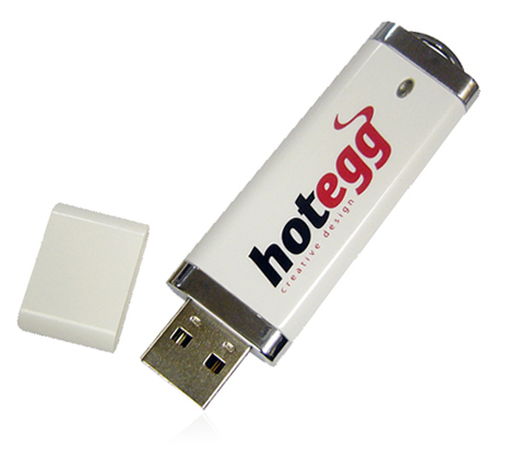 Hot Egg promotional flash drive