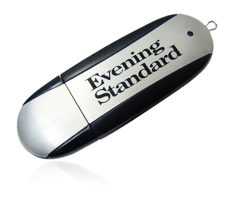 Black Evening Standard custom usb stick