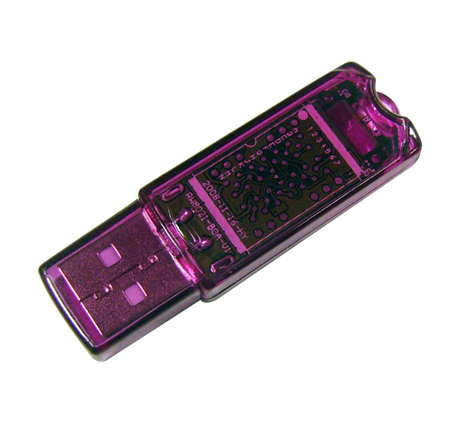 Purple plastic flash drive