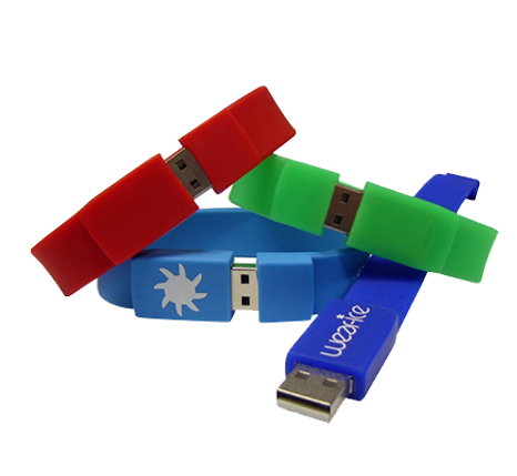 Promotional wristband usb drives