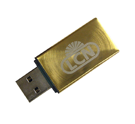 LCD branded gold memory stick