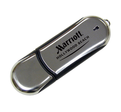 Promotional Marriott chrome usb flash drive