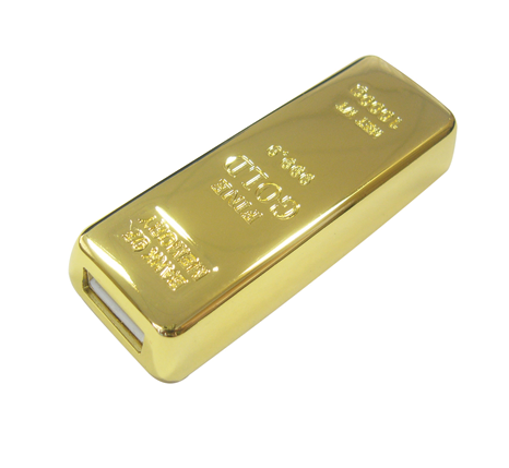 gold bar shaped memory stick