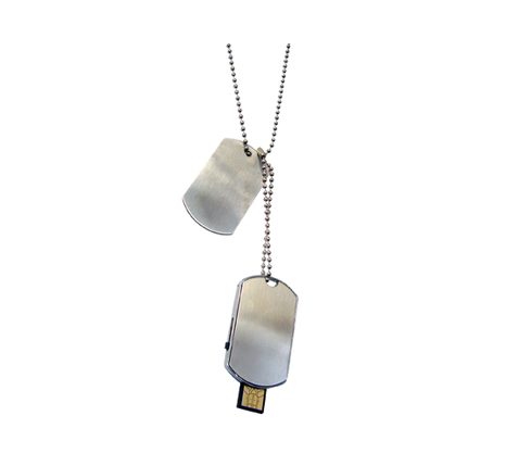 Trendy dog tag memory stick