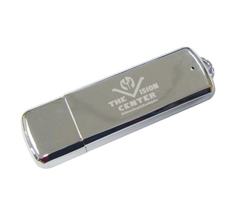 The Vision center custom metal usb stick