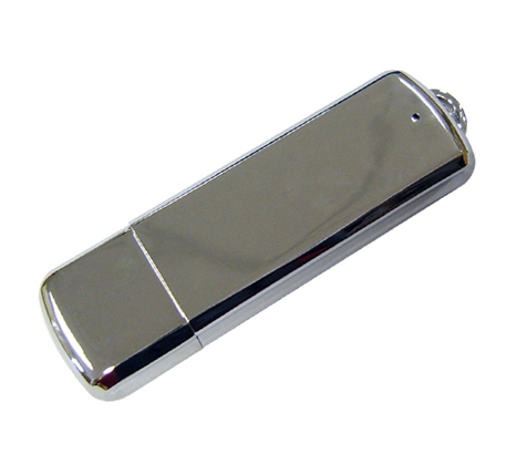 High quality silver metal flash drive