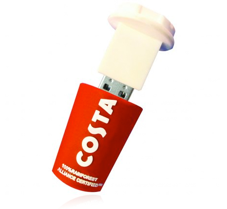 Costa coffee cup flash drive