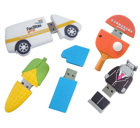 Custom shape flash drives