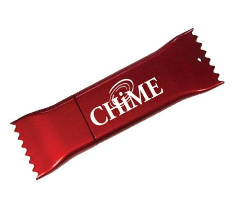 CHIME promotional candy flash drive