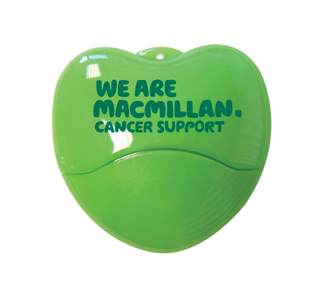 MacMillan promotional heart shaped usb drive