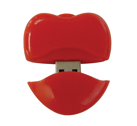 Red heart usb flash drive