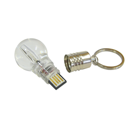Promotional novelty light bulb usb stick