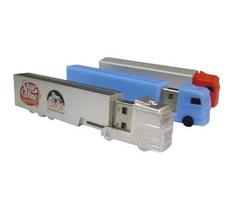 Truck shaped novelty memory sticks