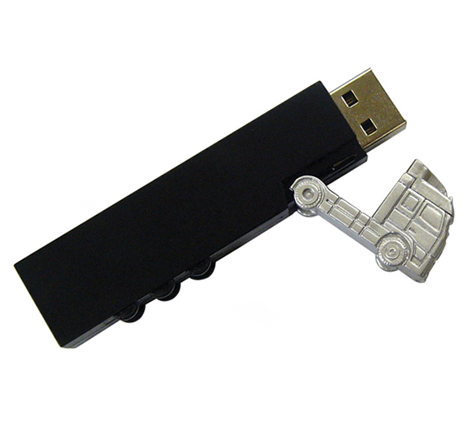 Novelty truck usb flash drive