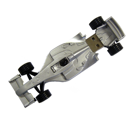 Formula 1 shaped novelty usb drive