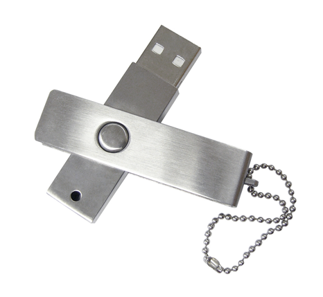 Branded swivel action memory stick