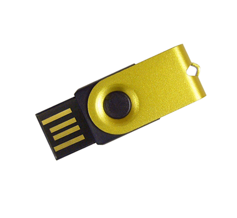 Gold metal mini usb stick