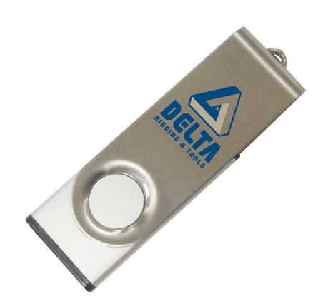 Delta Rigging & Tools branded usb flash drive